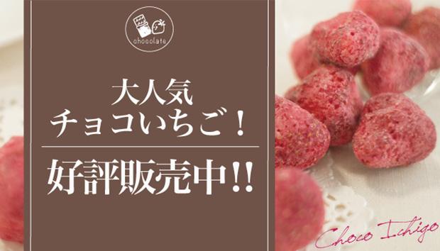 大人気チョコいちご!好評発売中!!